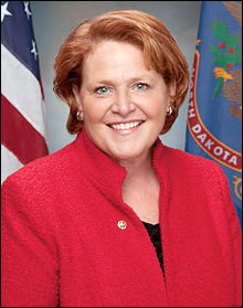 Poll results show Sen. Heidi Heitkamp (D) trailing for first time.