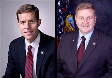 Former Pennsylvania Assistant US Attorney Conor Lamb (L) | Pennsylvania State Rep. Rick Saccone (R)