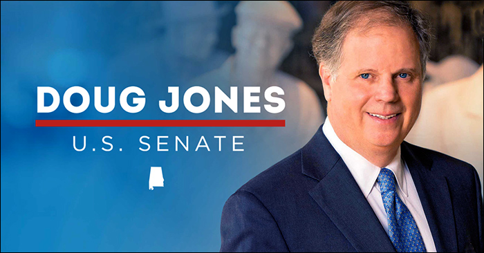 Alabama Senator-elect Doug Jones' campaign image.