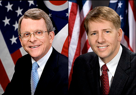 Left - Mike Dewine (R) | Right - Richard Cordray (D)