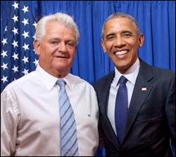 Rep. Bob Brady (R-Philadelphia) with former President Barack Obama | Facebook