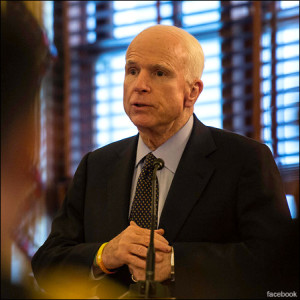 Sen. John McCain (R) -- Negative approval rating and pressure to retire