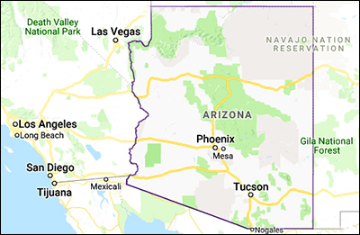 Arizona-map