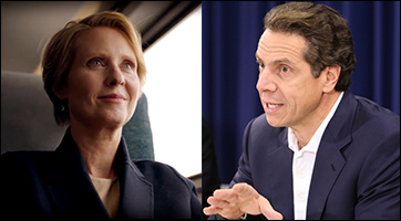Actress Cynthia Nixon & New York Gov. Andrew Cuomo (D)