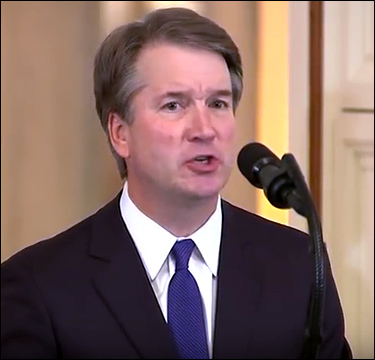 Judge Brett Kavanaugh at the White House, where President Trump nominated him to replace retiring Supreme Court Justice Anthony Kennedy. | C-SPAN