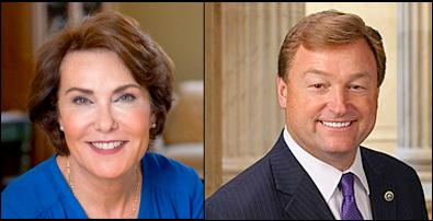Nevada Senate candidate, Rep. Jacky Rosen (D) and Sen. Dean Heller (R)