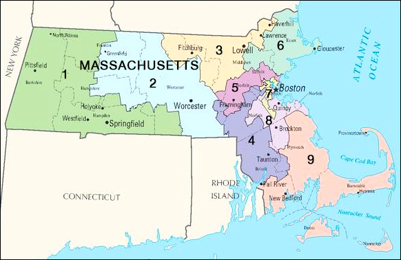 Massachusetts congressional districts