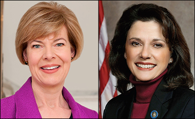 Sen. Tammy Baldwin (D), left, and state Sen. Leah Vukmir (R-Brookfield)