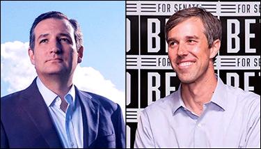 Texas Sen. Ted Cruz (R) | Rep. Beto O'Rourke (D-El Paso)